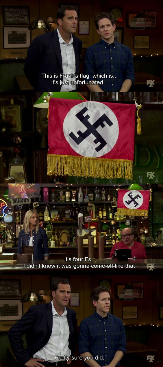 Frank makes his own Nazi flag