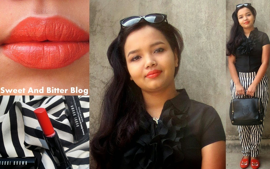 Bobbi Brown | Creamy Matte Lip Color in Valencia Orange 9 Swatch India