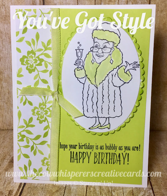 You've Got Style, Lemon Lime Twist, Stampin Up, Card, Happy Birthday, Layers