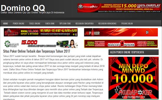 PusatDominoQQ.com Situs Poker Online Indonesia