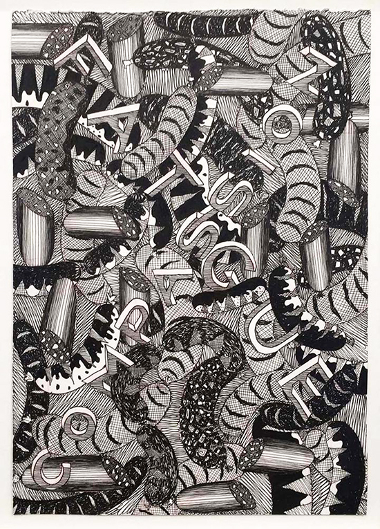 drawing Koen Taselaar Compassion Fatigue, 2014