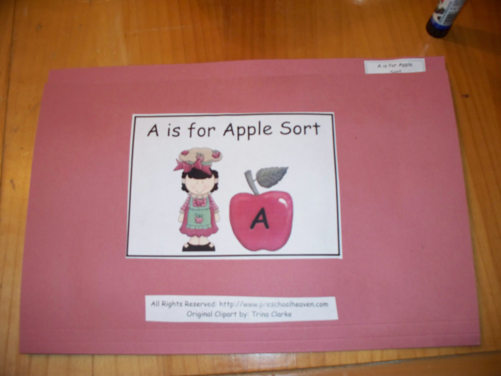 Free For Kids Apple Upper And Lower Case Letter A Matching File Folder Game