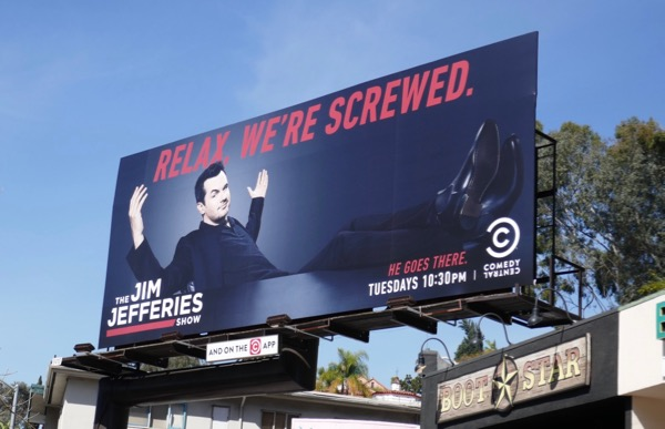 Jim Jefferies Show season 2 billboard