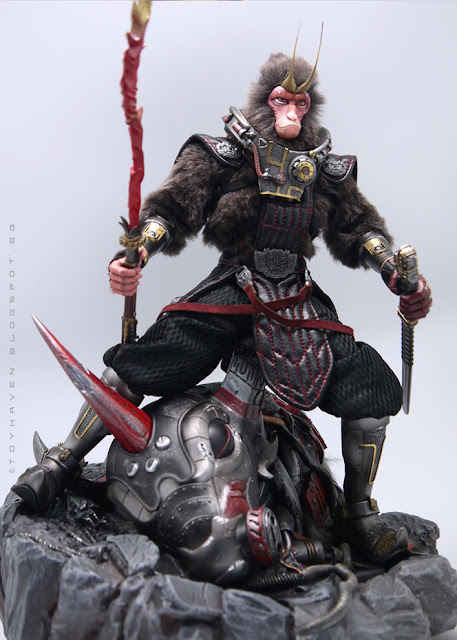 osw.zone Review III: Gate Toy X Winson Classic Creation Time Wars 12-inch Yuan Kong Figure + 1: 6 scale Battle Damaged Mystic Being Steel Ox Crimson Flame Deluxe's ​​Diorama - That's a Nice Shot: p
