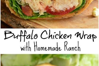 Buffalo Chicken Wrap with Homemade Ranch