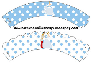 Cinderella Birthday Party Free Printable Cupcake Wrappers.