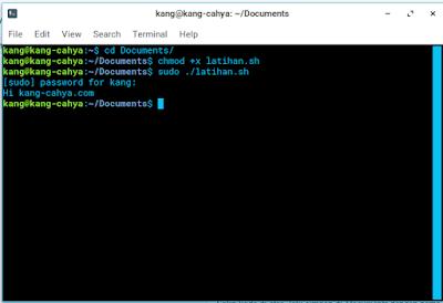 Cara mudah membuat dan mengeksekusi script bash shell di linux