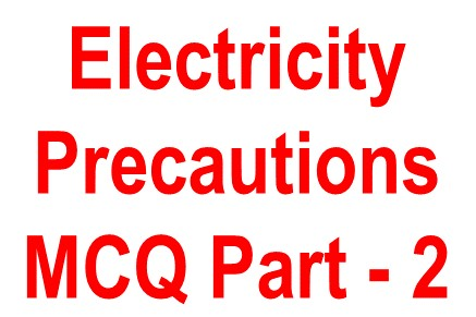 objective question safety precautions -2