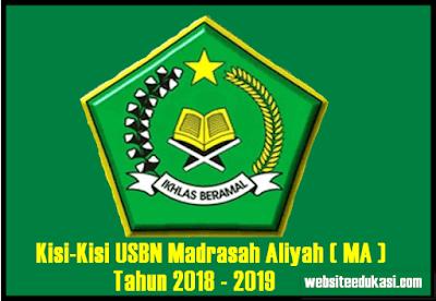 Kisi-Kisi USBN MA Tahun 2019