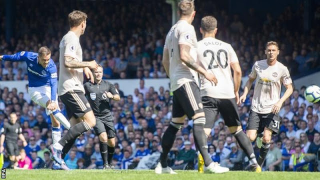 Everton defeat woeful Manchester United