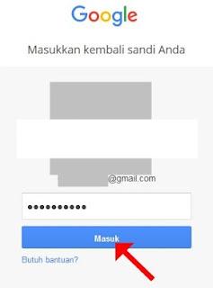 Masukkan kembali password/sandi/kata kunci email Anda