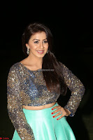 Nikki Galrani in Green Skirt  Top at Marakathamani music launch ~  Exclusive (138).JPG