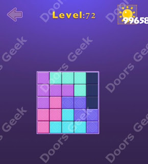 Cheats, Solutions, Walkthrough for Move Blocks Easy Level 72