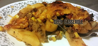 cassrole idea, casserole maindish, casserole man dish, venison cassrole,bonus recipe, deer recipe, deer idea, cooking deer, cooking venison