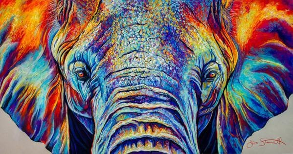 08-Elephant-Large-Scale-Soft-Pastel-Drawings-Of-Wild-Ainimals-www-designstack-co