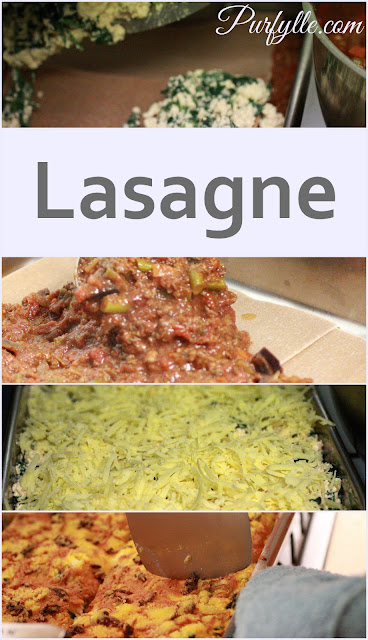 Spelt lasagne with a spinach and ricotta cheese. Grated colby, chorizo or pepperoni and bread crumbs make the best lasagne toppings