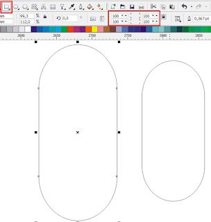 cara desain space iklan teks