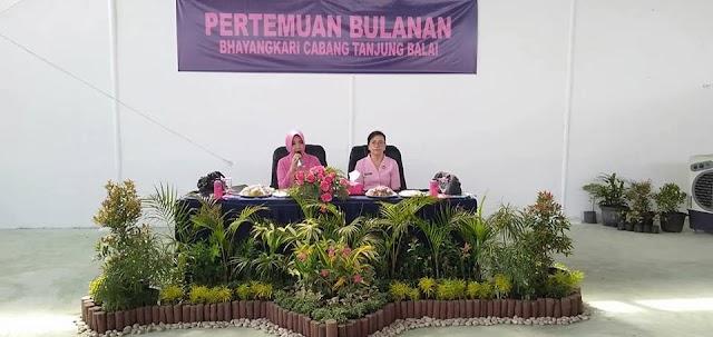 Pengurus Cabang Bhayangkari Tanjungbalai Melaksanakan Pertemuan Rutin Bulanan