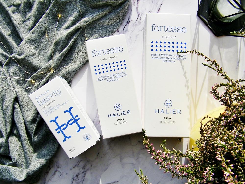 HALIER | szampon i odżywka do włosów Fortesse, nutrikosmetyk Hairvity