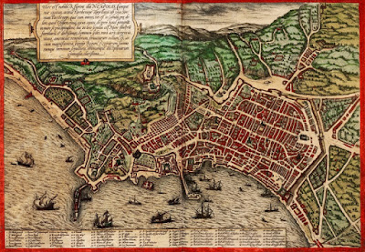 Mapa de Nápoles en aquella época. Me apetecía ponerlo, soy muy fan de la cartografía.
