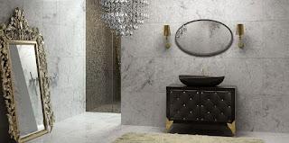 ديكورات وتصميمات حمامات عصرية بتفاصيل كلاسيكية