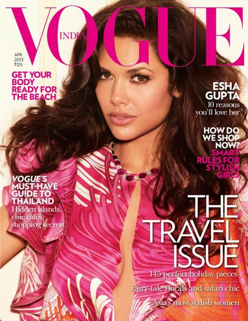 Esha Gupta Vogue India Magazine April 2013 Cover