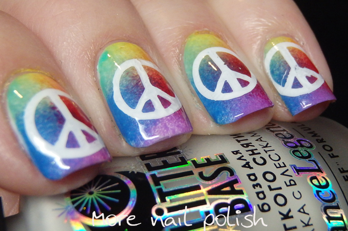 Hippie nail art images nail art and nail design ideas hippiefestival nail art ideas more nail polish so i ended up with these sponged rainbow nails prinsesfo Gallery