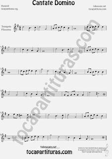Cantate Domino  Partitura de Trompeta y Fliscorno Sheet Music for Trumpet and Flugelhorn Music Scores