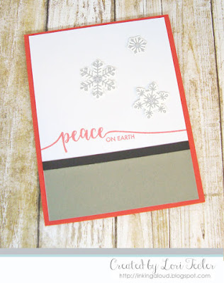 Peace on Earth card-designed by Lori Tecler/Inking Aloud-stamps and dies from Avery Elle