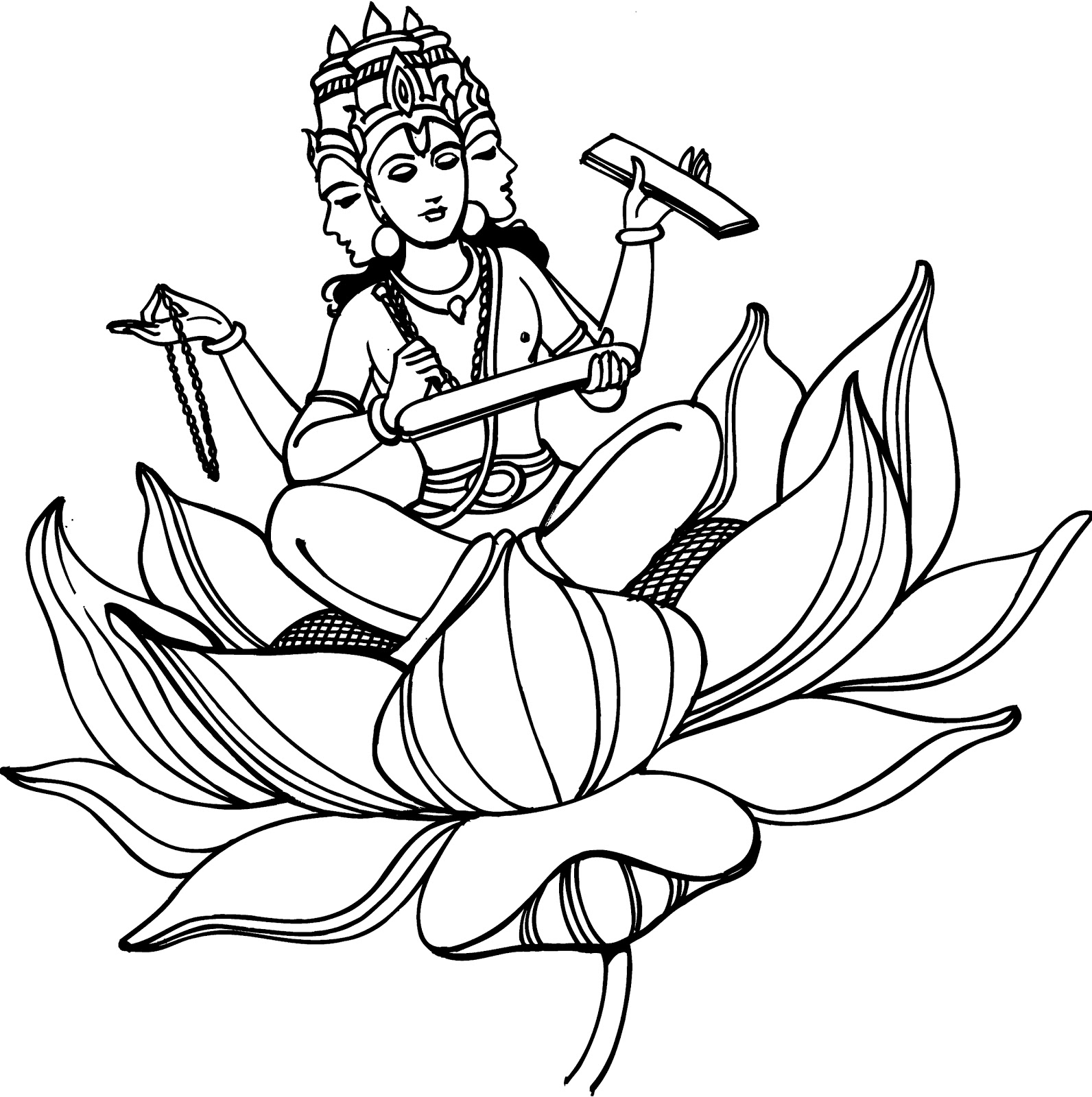 Line art hindu gods : All in one wallpapers pencil drawings hindu gods