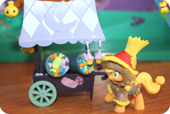 My little pony - fiendship is magic - le chariot de bonbons d'apple jack