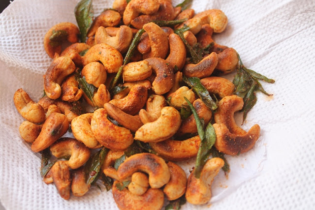 Indian Spiced Cashews Recipe