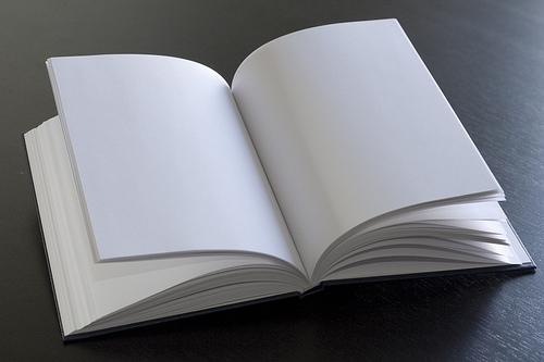 Mujer Leyendo El Libro En Blanco En El Jardín: Las Fronteras De Babia: Micro-relato: Sin Palabras