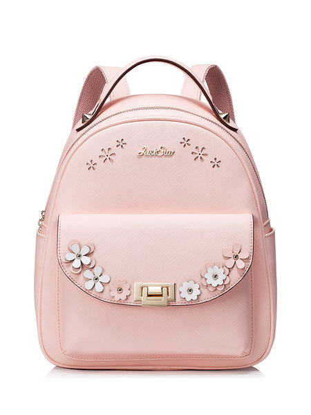 pink leather packpack cheap