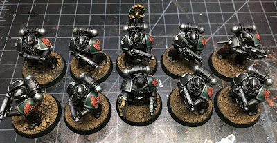 1st Legion Dark Angels Calibanite Tactical Squad WIP