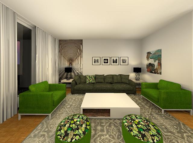 Déco Avec Papiers Peints Dans Un Appartement Moderne