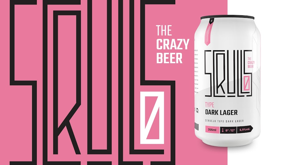 the crazy beer packaging can design