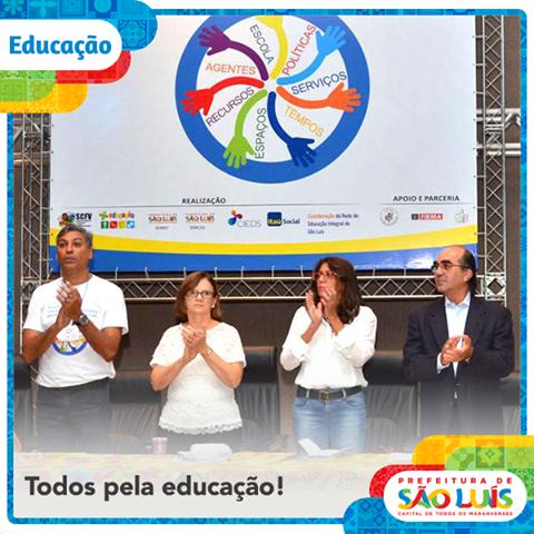 419634cd1f727 Prefeitura de São Luís assina pacto pela Educação Integral