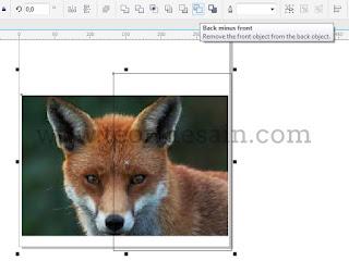 memotong gambar menggunakan back minus front