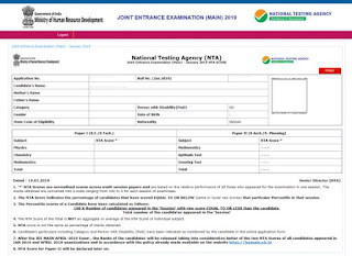 JEE Mains Paper 2 result 2019