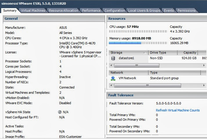 Life is a learning process: Home Lab - VMware ESXi 5 5 Setup