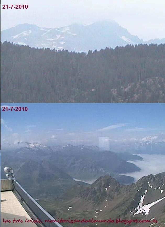 Nieve en Montardo y Pic du Midi en 2010