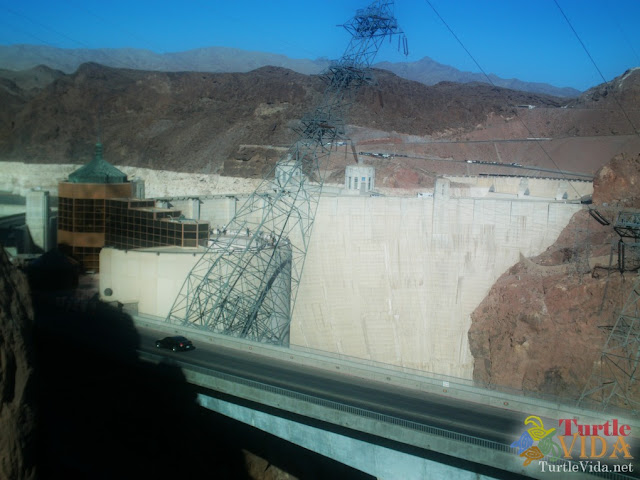 View of the Hoover Dam from the parking garage