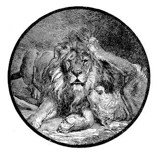 lion image digital illustration