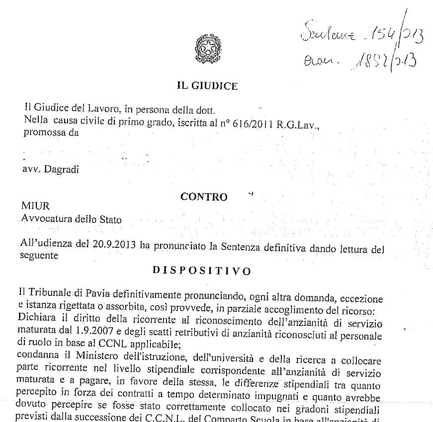 Tribunale Pavia: Sentenza 154 Tribunale Di Pavia Del 20