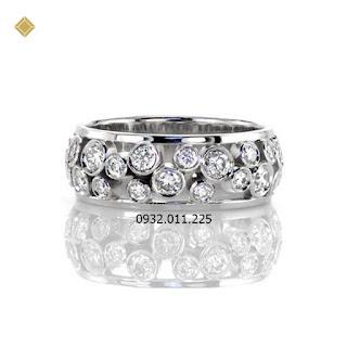 Nhẫn nữ kim cương thiết kế ánh sáng trên bầu trời