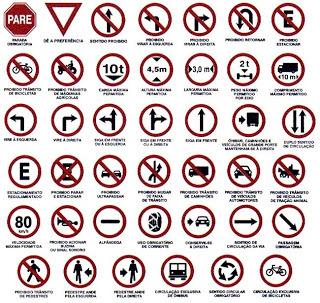 placas tránsito, portugués