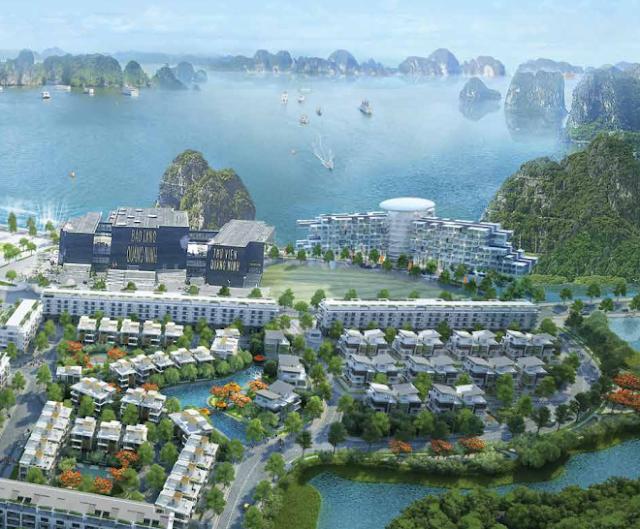Phối cảnh khu biệt thự Mon Bay Hạ Long