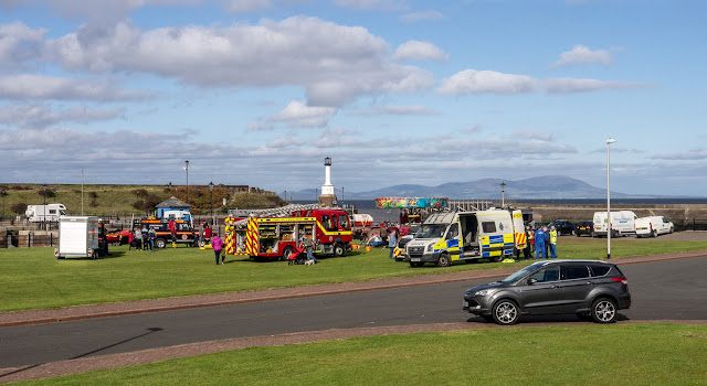 Photo of the start of the emergency services open day when I passed on my way to the Percy Kelly Trail