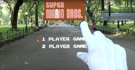 Super Mario Bros als lebensgroßes Augmented Reality Game | Dafür braucht man eine Hololens